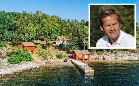 IDYLLISK: Jon Almaas og Ellen Christin Heider kjøpte fritidseiendommen i Muffetangveien på Bærø i sommer.