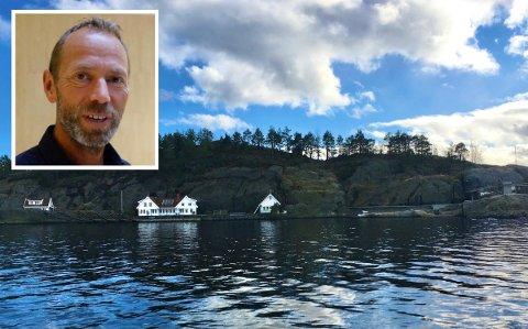 STORE VERDIER: Hyttetunet og hovedhytta i Steinsundveien har fått takst på til sammen over 65 millioner.