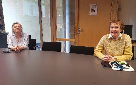 OPPRETTER TESTSENTER: Rådmann Wenche Grinderud og ordfører Kari Anne Sand opplyste om at det vil bli opprettet et drive-in testsenter for korona-testing. Foto: Katrine Alexandra Leirmo Heiberg.