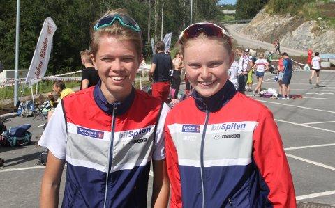 MEGET STERKT: Ingvild Gustafsson og Andreas Myrvold Skovlyst startet Hovedløpet med å bli nummer fire.  FOTO: ERIK BORG