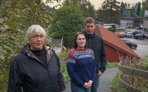 MYE STØY: Eva Mikalsen (t.v), Lene Haugan og Stian Dahl forteller om et støyproblem som bare har blitt verre.