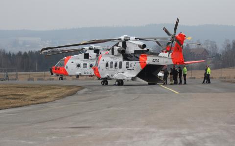 SKAL INNFASES: Nye redningshelikoptre skal testes på Kjeller. Det vil medføre økt støy i nærområdet en tid framover.