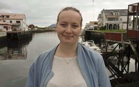 Leder Ingrid Skjoldvær i Natur og Ungdom sier det kommer 400 ungdommer fra hele landet til Lofoten .Foto: Knut Johansen