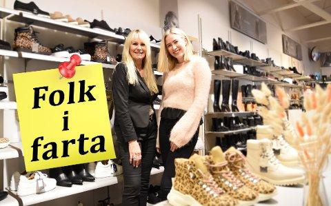 Butikkdrivere: Hilde Rodahl har drevet butikk i 30 år, nå har hun fått meg seg datteren Kristin på laget.