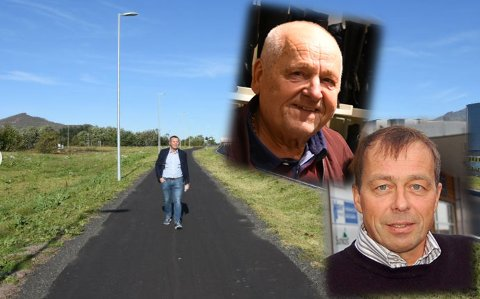 HYLLES: Ketil Benjaminsen var tungt involvert i etableringen av Lofotsenteret på Leknes. Kjell Nordheim  og Svein Hellan er fulle av lovord om innsatsen hans i forbindelse med at han nå forlater Coop.