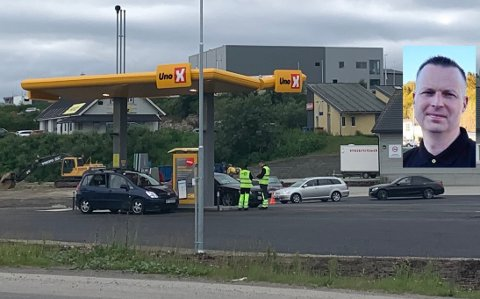 Kent Karijord Larsen er markedsansvarlig for den nye bensinstasjonen.