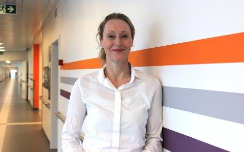 KORONAVIRUS-TILTAK: Administrerende direktør Hege Gjessing ved Sykehuset Østfold ber pårørende begrense pasientbesøk til et minimum.