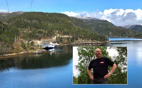 KREVER UTREDNING: Raine Olaf Ørsnes (innfelt) har på vegne av naboer til vindkraftanlegget på Sørmarkfjellet etterlyst helsekonsekvensutredning, men ser foreløpig ikke ut til å nå fram hos verken utbygger, NVE eller Flatanger kommune.
