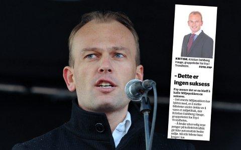 KRITISK: Som politiker gikk Kristian Dahlberg Hauge hardt ut mot Miljøpakken. Nå er dette et av områdene hans som direktør i kommunen får ansvar for.