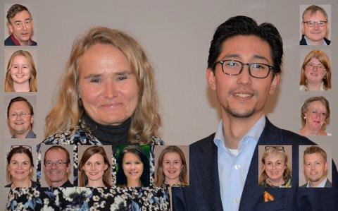ØSTENSJØ BYDELSUTVALG: Her er lokalpolitikerne som skal prioritere pengebruken i Bydel Østensjø i perioden 2019-2023. I midten BU-leder Kristin Sandaker (Ap) og nestleder Benjamin Bornø (H).