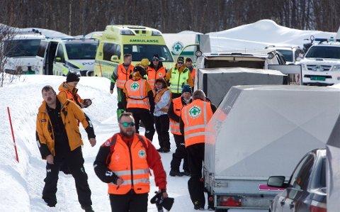 AKSJON: En rekke etater var i sving etter at det gikk flere skred i Nordreisa torsdag.