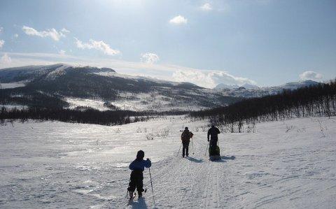 UTFARTSOMRÅDE: Finnheia er et populært turområde for mange barnefamilier. Iver Martens er redd etableringen av Arctic Center vil gi en dårligere opplevelse.