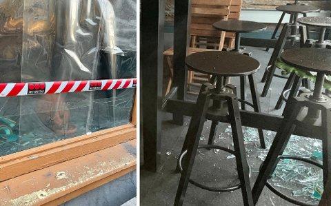 KNUST: Lenge etter stengetid knuste en mann vinduet på puben midt i Tromsø sentrum.