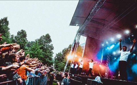 GOD STEMNING: Brockhampton skapte liv og røre på Øyafestivalen i 2018.