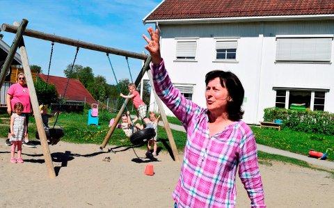 GLEDER SEG: – Vi gleder oss veldig til ny barnehage, sier styrer Kjersti Ljønes Rui i Nordli barnehage i Østre Toten, rett utenfor bygrensa i Gjøvik.