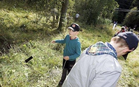 Slynge: Aleksander Bjørki Vangberg (8) kastet slynge.