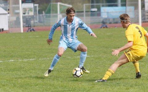 KLAR FOR NY KLUBB: Martin Sjølstad har vært en viktig spiller for Follo, og har gått gradene i klubben siden han var 14 år. Nå er han klar for OBOS-ligaen og Strømmen.