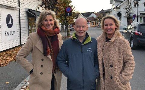 SAMARBEIDER: Sanitetsforeningens Kristin Sundling samarbeider med blant annet Ole Petter Borvik og Linda Bratsberg som driver butikker i Stavern og er med på mannekengoppvisningen på onsdag.