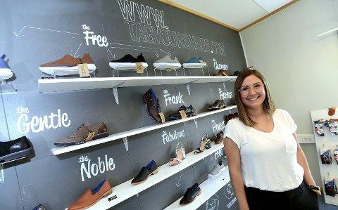 FØLGER DRØMMEN: Luisa Arango på Flisa har etablert sitt eget designermerke Tag Your Shoes, og selger skoene både gjennom nettbutikk og ordinært butikksalg.