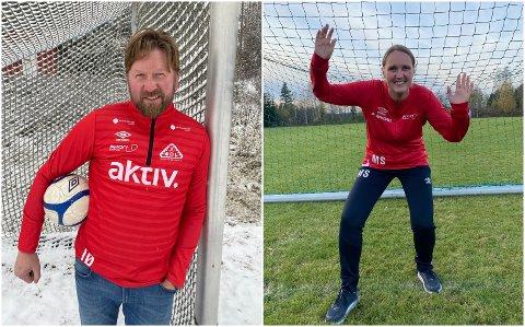 HÅPER: Inge Øvergård og Marit Syversen forsøker å få seniorfotballen opp på beina igjen i henholdsvis Sørskogbygda og Jømna/Heradsbygd.