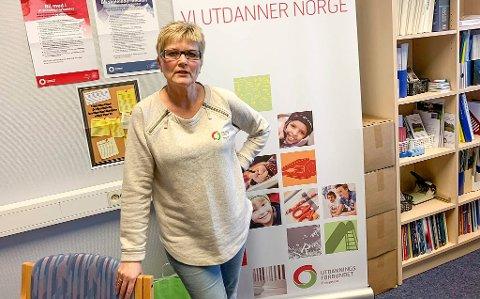 HEIER PÅ NY LÆREPLAN: Astrid Danbolt i Utdanningsforbundet i Porsgrunn stiller seg positiv til regjeringens forslagsendringer.