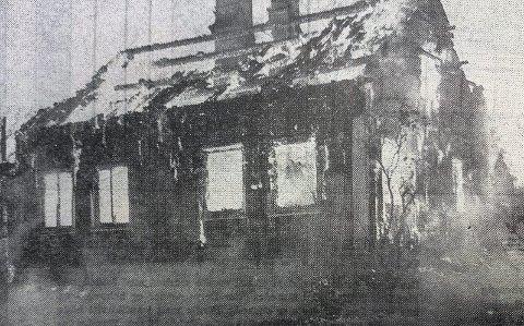 150-200 ÅR GAMMELT: Vebergs hus ble svidd av.