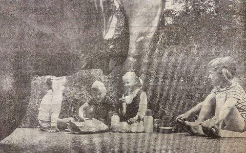 HERØYA: Fra venstre Nina Hallerud, John Rune Krog, Kari Krog og Lene Hallerud.