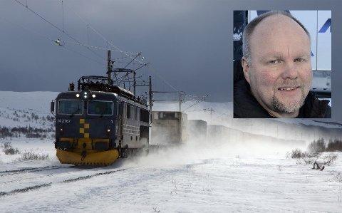 ASKO Midt-Norge skal kjøre sin transport nordover til Bodø på jernbanen fra 1. april. - Akkurat det vi håpet på da vi invisterte 170 millioner kroner i Helgelandsterminalen, sier Leif Sagen (innfelt) ved Meyership.