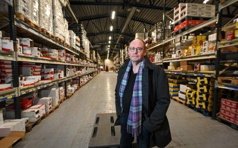 Ole Tom Sjule med varer for 15-20 millioner på lager.