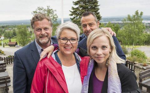 Kultursamarbeid: Morten Midtlien, kultursjef Hamar, Bente Hagen, kultursjef Løten, Asle Berteig kultursjef Ringsaker og Solbjørg Tveiten, kultursjef Stange gleder seg over samarbeidet.