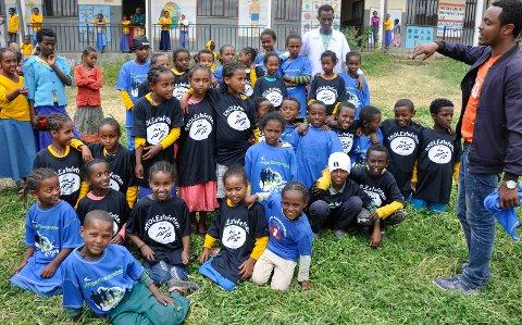 Skolebarna i Sululta har fått tro på framtida.