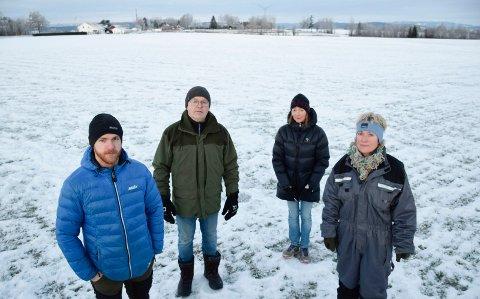 KOMPROMISS: Einar og Lars Buttingsrud, Anette Hafnor og Kathinka Mohn mener det må være mulig å bli enige om et rimelig kompromiss.