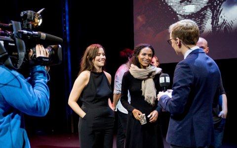 SPILLER SAMMEN: Marion Ravn intervjues sammen Haddy N'jie, som også skal spille i  Les Misérables på Folketeateret.