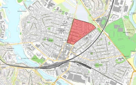 FORBUDT: I dette området – sidegatene mellom Alexander Kiellands gate og Storgata – blir det nå parkering forbudt deler av døgnet.