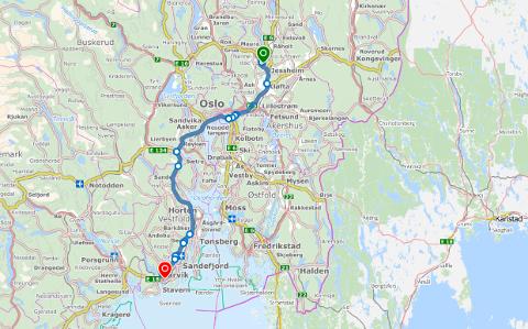 18 MIL: Parkeringsselskapet kjørte en distanse tilsvarende Gardermoen-Larvik med Kendra Sandums bil.