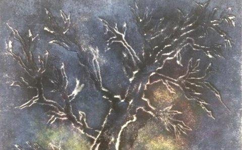 HENNING VIK: Utsnitt av et av kunstnerens bilder som stilles ut i Galleri Kalk.