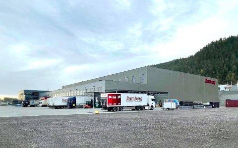 I GANG: Driften ved B. H. Rambergs nye logistikksenter i Hanekleiva er nå i full gang.