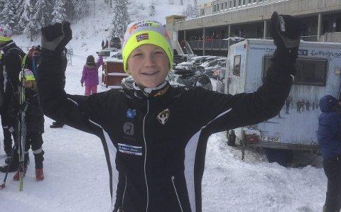Sterk prestasjon: Arthur H. Klavenes fra Runar hadde all grunn til å juble etter helgas renn. Foto: Tone Bergene Aabrekk