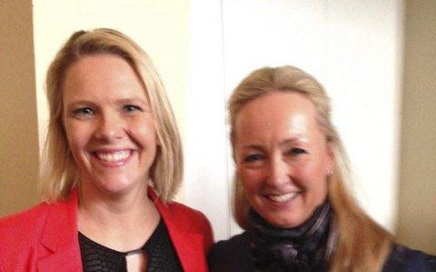 Konferanse: Innvandringsminister Sylvi Listhaug og lokalpolitiker Marit Kildedal møttes på kvinnekonferanse.