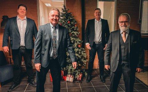 SA-PODDENS SESONGOPPSUMMERING: Patrick Walther Larsen, Petter Kalnes, Bjørn Inge «Bingen» Nilsen og Øistein Veberg i SA-podden.
