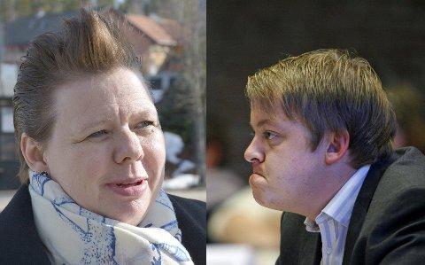 Kniver om mandat: Fylkesvaraordfører Siv Henriette Jacobsen (Ap) og stortingsrepresentant Erlend Wiborg (Frp) er i tett kamp om det siste direkte Østfold-mandatet. I den siste meningemålingen for Amedia mangler Frp og Wiborg kun 382 stemmer på å ta et mandat fra Ap ved Siv Jacobsen.