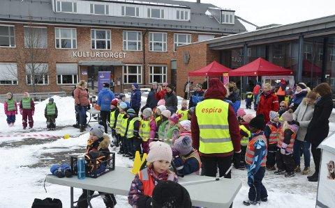 Mange barn: I overkant av 100 barn fra hele kommunen deltok på arrangementet på Kulturtorget i går.