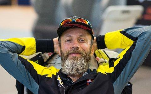 VILL TUR: Asgeir Hjorthaug løp lørdag fra Knapstad til Oslo igjennom skog og mark. Men turen endte ikke helt opp der han hadde planlagt.