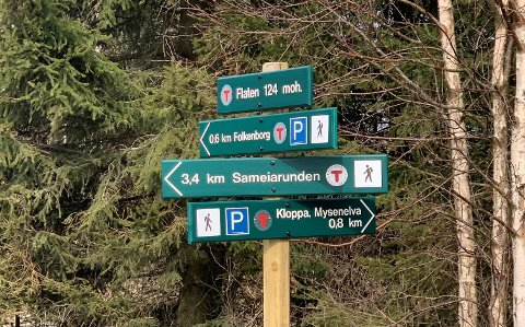 DNT Indre Østfold har skiltet hele Sameia turområde, som har tre inngansporter fra Mysen, Trømborg og Eidsberg.
