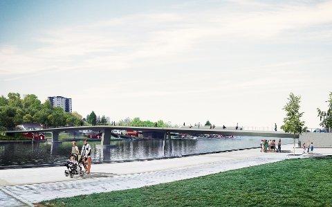 BRUMØTE: 28. mars arrangerer Porsgrunn kommune åpent møte om planen for den nye gang- og sykkelbrua.