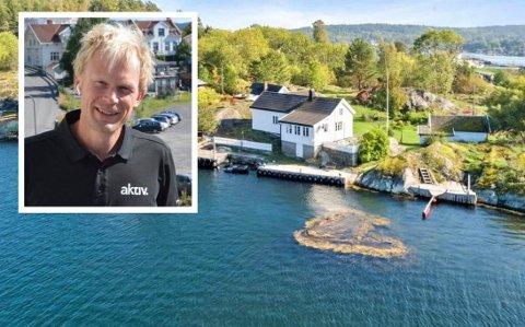 DYRESTE: Denne fritidseiendommen på Sauøya gikk for 16,5 millioner i juli. Det er den dyreste Ronny Jørstad har solgt på det åpne markedet i år. Aktiv Kragerø har hittil solgt 70 hytter.