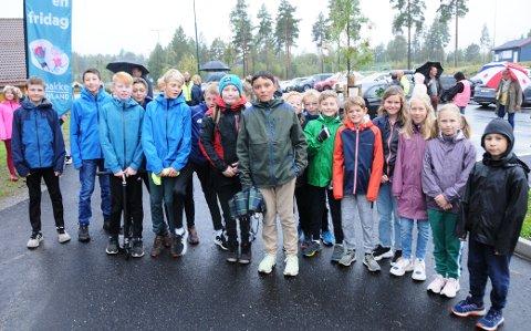 FLOTT: Flere elever i 7. klasse med Gullik i spissen var tilfredse med den økte trafikksikkerheten.