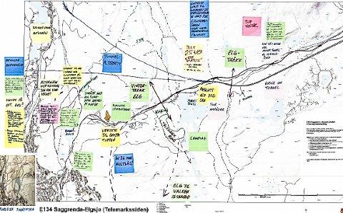 KART: Dette kartet ble laget etter folkemøtet på Notodden.