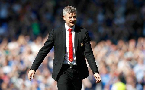 Manchester United manager Ole Gunnar Solskjær etter kampen mot Everton på Goodison Park.