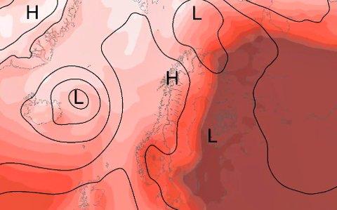 Nordmøringene kan sette av tirsdagens som den fineste vær-dagen denne uka. Men det blir ikke «svenske tilstander», hvor man kan kose seg i over 30 grader i disse dager.